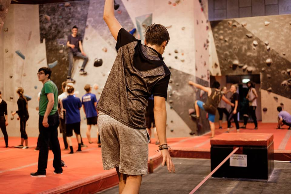 Individual Tight Rope walking at Bouldering