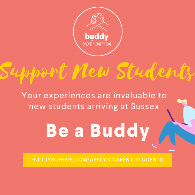 Be a Buddy and support new students