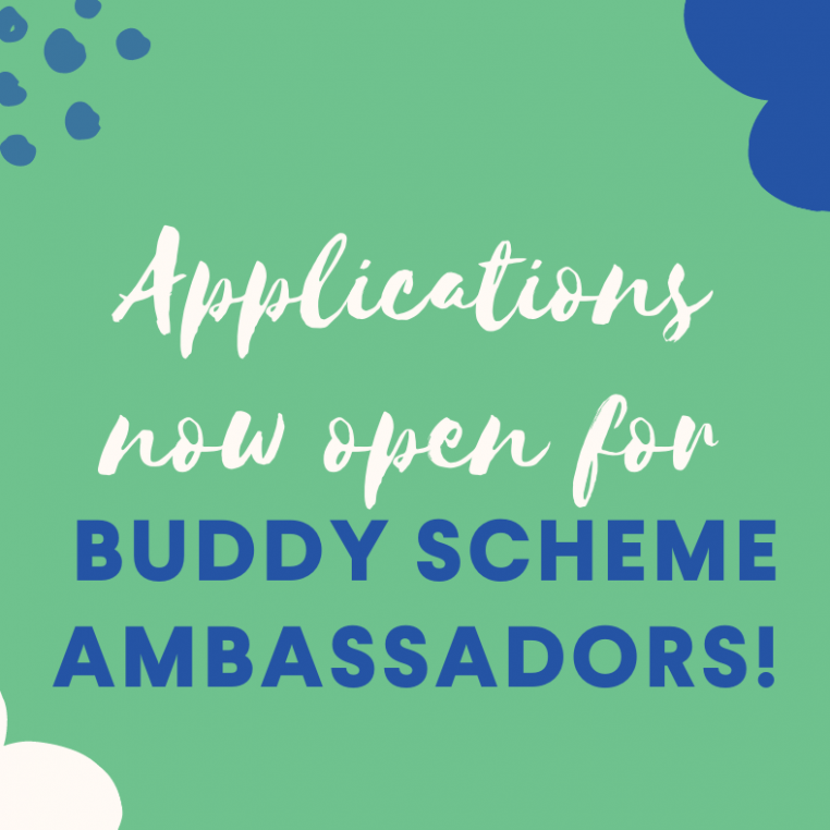 Applications now open for Buddy Scheme Ambassador